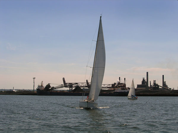 Sailing Boat - Hamilton Bayfront Industrial Area